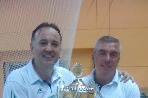 MajiteľChmeliar (vpravo) a trénerGoluža sa dohodli na pokračovaní spolupráce.