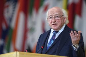 Írsky prezident Michael D. Higgins.