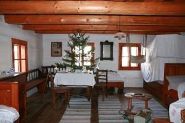 Tradičná liptovská vianočná izba, akú ju mávali naši predkovia.