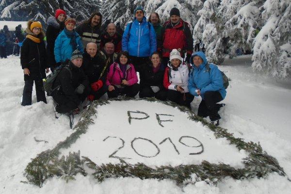 Pri symbolickom nápise PF 2019 sa s obľubou fotia turisti.