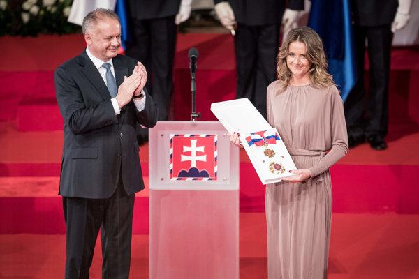 Prezident vyznamenal aj tenistku Danielu Hantuchovú.