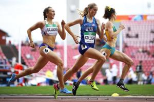 Gabriela Gajanová (vľavo) skončila na juniorských majstrovstvách sveta v atletike vo fínskej Tampere štvrtá.