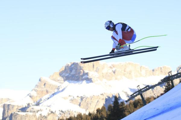 Švajčiarsky lyžiar Marc Gisin na pretekoch Svetového pohára v talianskej Val Gardene.