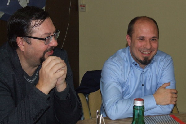 Ján Odzgan (vpravo) s viceprimátorom Danielom Balkom.