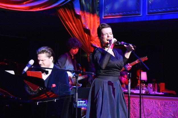 Marta Jandová a Ondřej Brzobohatý počas vystúpenia