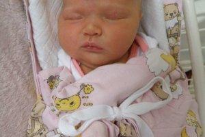 Kristínka Michálková (3910 g a 52 cm) sa narodila 2. januára Lenke a Damiánovi zo Slopnej. radosť má aj sestra Karin.