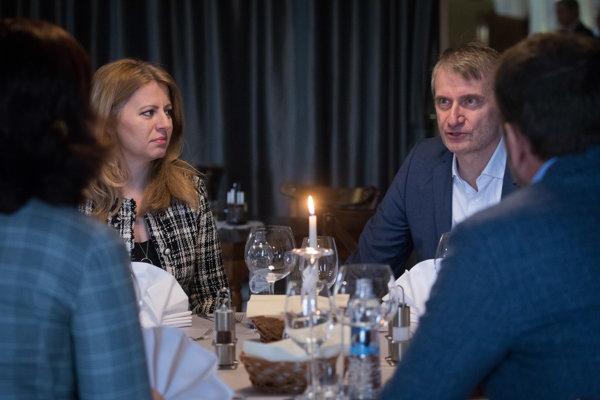 Podpredsedníčka hnutia OĽaNO Veronika Remišová, kandidáti na prezidenta SR Zuzana Čaputová a Robert Mistrík, a predseda hnutia OĽaNO Igor Matovič.