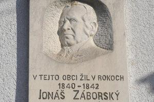 Pamätná tabuľa Jonáša Záborského v Rankovicach.