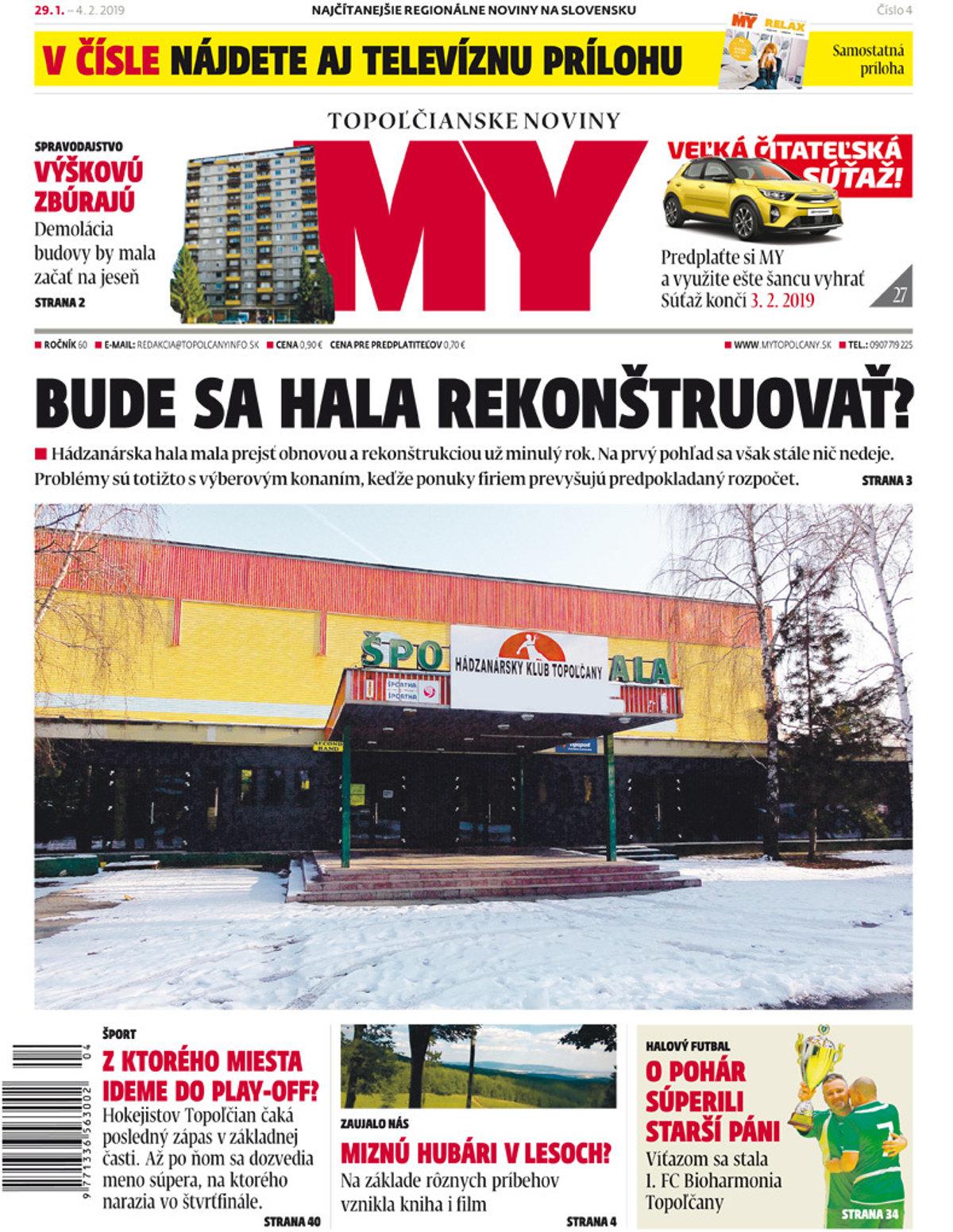 713a70d63 Vyšlo nové číslo MY Topoľčianskych novín Dnešok - SME | MY Topoľčany