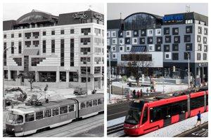 Na fotografii vľavo hotel v roku 1992 a vpravo aktuálna rok 2019.