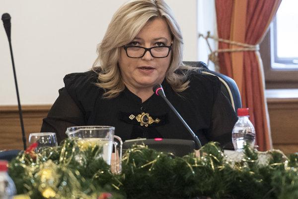 Predsedníčka Súdnej rady SR Lenka Praženková.