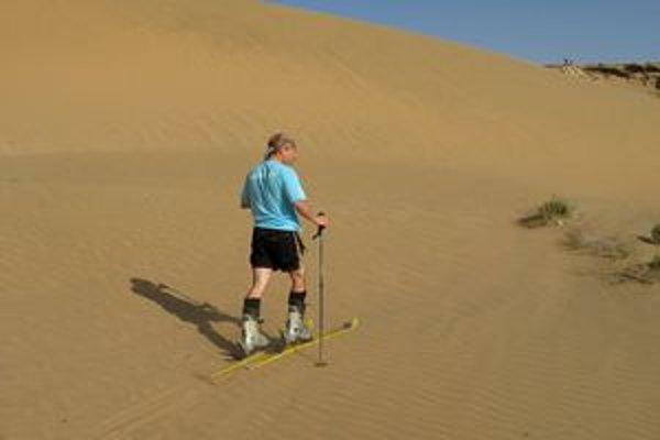 Milan Ohurniak - Barney zlyžoval veľa kopcov, alpskú Monte Rosu aj päťtisícový kaukazský Kazbek. V Afrike zlyžoval aj pieskovú dunu.