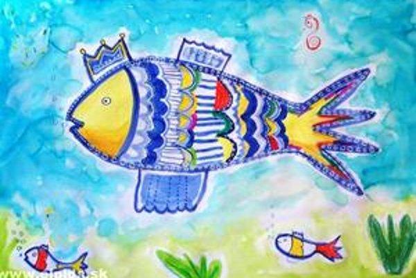 Obraz Zlatá rybka Mirky Juríkovej vydražilo občianske združenie Elpida na aukcii v Holansku.