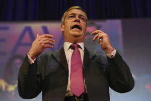 Britský europoslanec Nigel Farage.