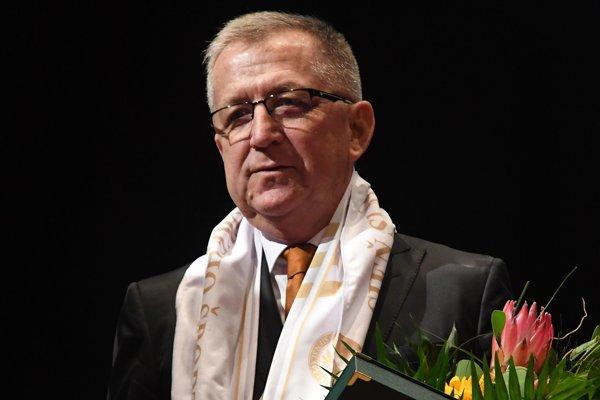 Mikuláš Komanický po zaradení do Siene slávy prešovského športu.