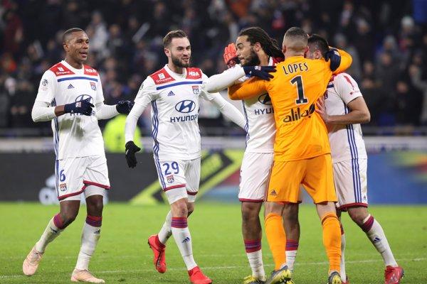 Futbalisti Olympique Lyon - ilustračná fotografia.