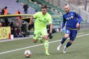 Jediný gól stretnutia vsietil Michal Tomič (vľavo). Ilustračné foto.