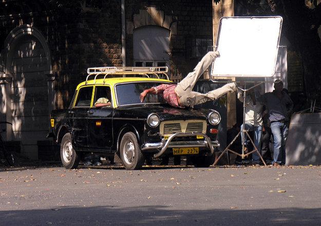 Akčná scéna do jedného z filmov bollywoodskej produkcie.