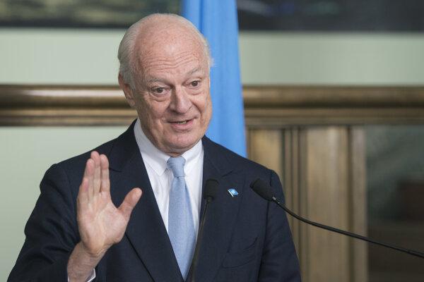 Osobitný splnomocnenec OSN pre Sýriu Staffan de Mistura.