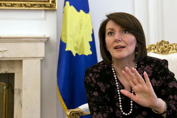 Kosovská prezidentka Atifete Jahjagová.