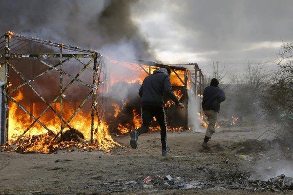Utečenci v Calais.