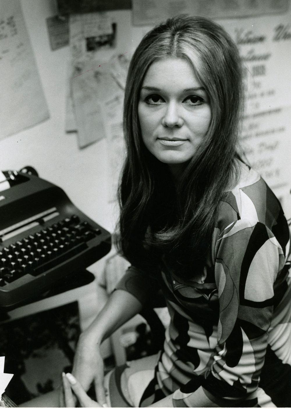 V roku 1972 ako redaktorka časopisu Ms.