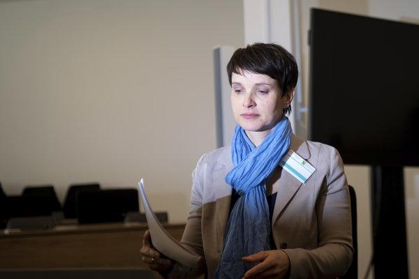 Bývalá šéfka krajne pravicovej strany Alternatíva pre Nemecko (AfD) Frauke Petryová.
