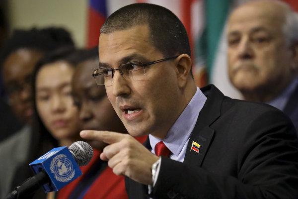 Venezuelský minister zahraničných vecí Jorge Arreaza.