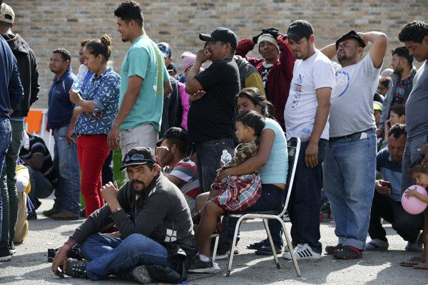 Utečenci v tábore v Piedras Negras.