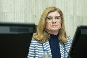 Podpredsedníčka vlády a ministerka pôdohospodárstva a rozvoja vidieka SR Gabriela Matečná počas rokovania 142. schôdze vlády SR.