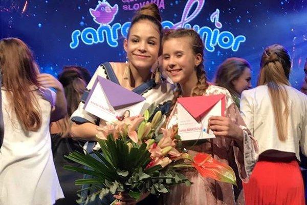 Víťazky súťaže: Lenka Berkešová (vľavo) a Aneta Kalertová.