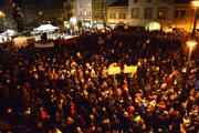 Tisíce ľudí prišli na košickú Hlavnú.