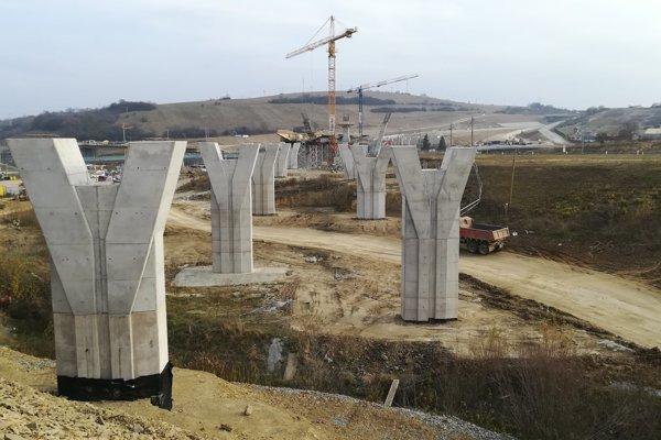 Práce na D1 Prešov, západ - Prešov, juh postupujú aj počas zimných mesiacov.