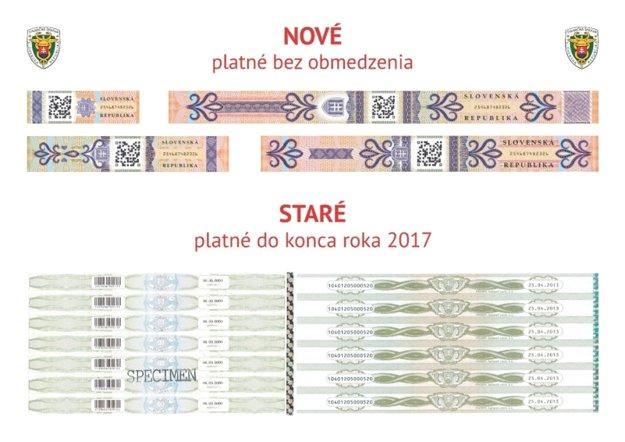 Nové a staré známky.