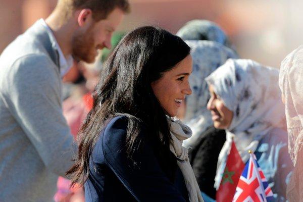Britský princ Harry a jeho manželka Meghan, vojvodkyňa zo Sussexu v Maroku.