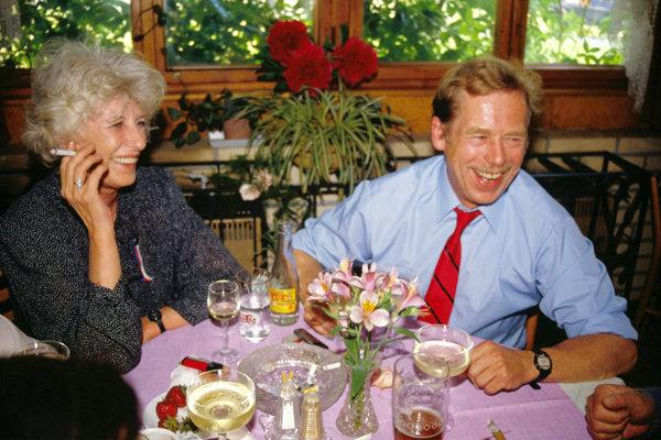 Olga Havlová a Václav Havel