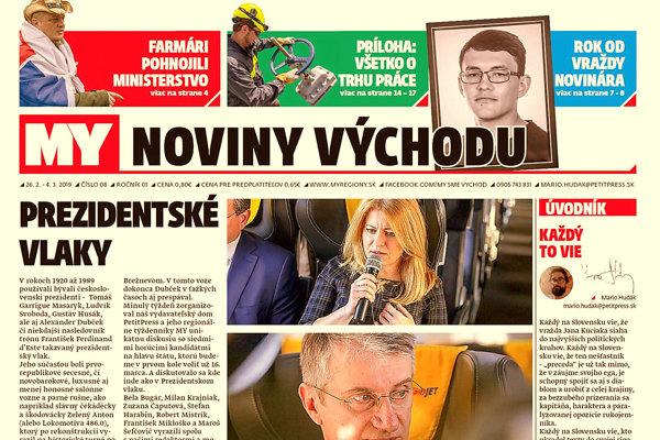 V Prezidentskom vlaku z Bratislavy do Žiliny s na(MY) diskutovali kandidáti na prezidenta. (ZDROJ: PetitPress)
