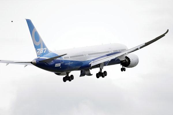Lietadlo 787-9 Dreamliner.