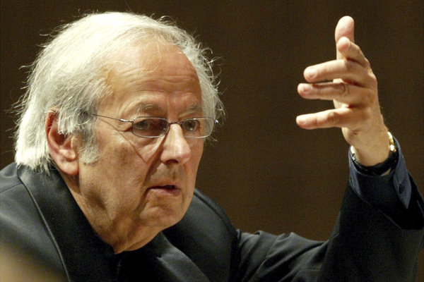 André Previn na snímke z roku 2004.
