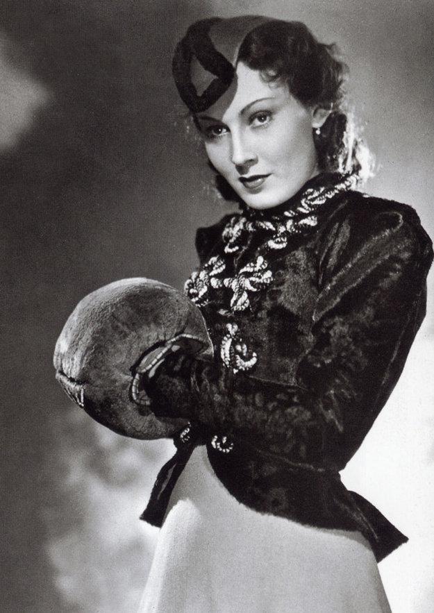 Česká herečka Lída Baarová.