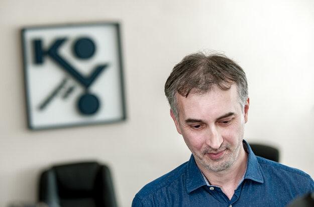 Predseda Základnej organizácie OZ KOVO Continental Zvolen Marián Tuhársky.