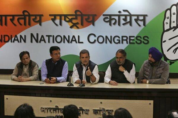 Predseda hlavnej opozičnej strany Indický národný kongres (INC) Ráhul Gándhí.