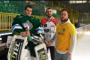 Maroš Mikoláš, Jakub Merešš a Dominik Holec, odchovanci žilinského športu, pozývajú fanúšikov na domáce zápasy.