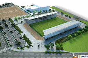 Na prelome rokov by mala byť hotová futbalová aréna s kapacitou 6-tisíc divákov, iba dvoma tribúnami a bez tréningových ihrísk.