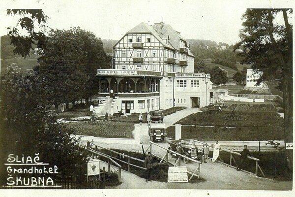 Sliačsky Grand hotel Škubňa, dnes známy ako hotel Hron.