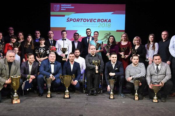 Najúspešnejší športovci Prešovského samosprávneho kraja za rok 2018.
