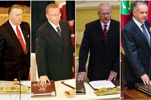 Michal Kováč, Rudolf schuster, Ivan gašparovič a Andrej Kiska.
