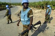 ojaci mierovej jednotky OSN z Ghany.