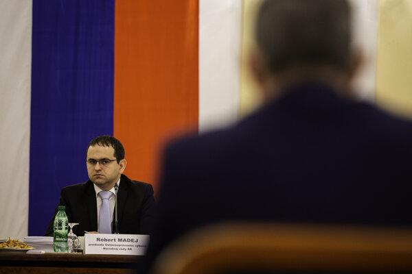 Predseda Ústavnoprávneho výboru NR SR Róbert Madej.