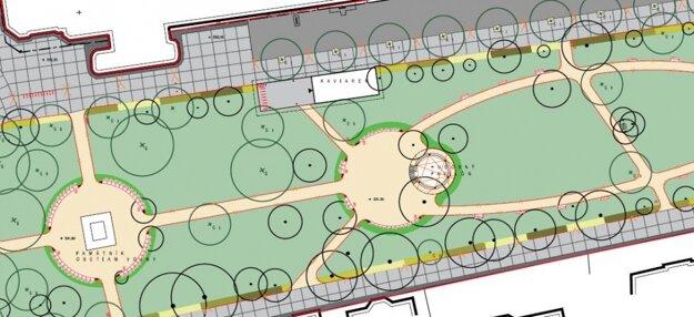 Plán parku.